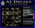 God Bless America Decal Sticker Eagle Flag 3DChrome Vinyl 120x97