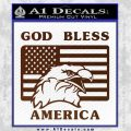 God Bless America Decal Sticker Eagle Flag BROWN Vinyl 120x120