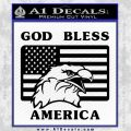 God Bless America Decal Sticker Eagle Flag Black Vinyl 120x120