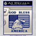God Bless America Decal Sticker Eagle Flag Blue Vinyl 120x120