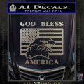 God Bless America Decal Sticker Eagle Flag Carbon FIber Chrome Vinyl 120x120