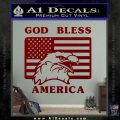 God Bless America Decal Sticker Eagle Flag DRD Vinyl 120x120