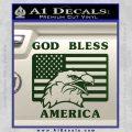 God Bless America Decal Sticker Eagle Flag Dark Green Vinyl 120x120