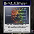 God Bless America Decal Sticker Eagle Flag Glitter Sparkle 120x120
