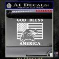 God Bless America Decal Sticker Eagle Flag Gloss White Vinyl 120x120