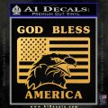 God Bless America Decal Sticker Eagle Flag Gold Vinyl 120x120