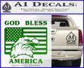 God Bless America Decal Sticker Eagle Flag Green Vinyl Logo 120x97