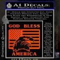 God Bless America Decal Sticker Eagle Flag Orange Emblem 120x120