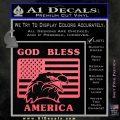 God Bless America Decal Sticker Eagle Flag Pink Emblem 120x120