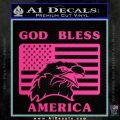 God Bless America Decal Sticker Eagle Flag Pink Hot Vinyl 120x120