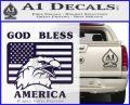 God Bless America Decal Sticker Eagle Flag PurpleEmblem Logo 120x97