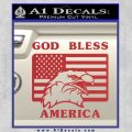 God Bless America Decal Sticker Eagle Flag Red 120x120
