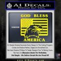 God Bless America Decal Sticker Eagle Flag Yellow Laptop 120x120