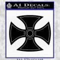 He Man Iron Cross Crest D1 Decal Sticker Black Vinyl Black 120x120