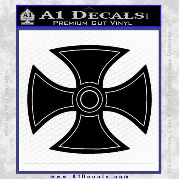 He Man Iron Cross Crest D1 Decal Sticker Black Vinyl Black