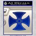 He Man Iron Cross Crest D1 Decal Sticker Blue Vinyl Black 120x120
