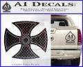 He Man Iron Cross Crest D1 Decal Sticker CFB Vinyl Black 120x97