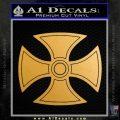 He Man Iron Cross Crest D1 Decal Sticker Gold Metallic Vinyl Black 120x120