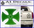 He Man Iron Cross Crest D1 Decal Sticker Green Vinyl Black 120x97