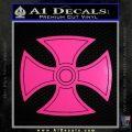 He Man Iron Cross Crest D1 Decal Sticker Neon Pink Vinyl Black 120x120