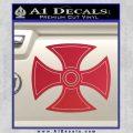 He Man Iron Cross Crest D1 Decal Sticker Red Vinyl Black 120x120