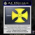 He Man Iron Cross Crest D1 Decal Sticker Yellow Vinyl Black 120x120