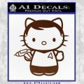 Hello Kitty Captain Kirk Star Trek Decal Sticker BROWN Vinyl 120x120