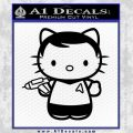 Hello Kitty Captain Kirk Star Trek Decal Sticker Black Vinyl 120x120