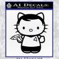 Hello Kitty Captain Kirk Star Trek Decal Sticker Black Vinyl 120x120