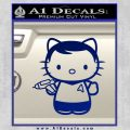 Hello Kitty Captain Kirk Star Trek Decal Sticker Blue Vinyl 120x120
