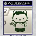 Hello Kitty Captain Kirk Star Trek Decal Sticker Dark Green Vinyl 120x120