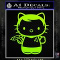 Hello Kitty Captain Kirk Star Trek Decal Sticker Lime Green Vinyl 120x120