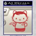 Hello Kitty Captain Kirk Star Trek Decal Sticker Red 120x120