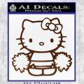Hello Kitty Cheerleader Decal Sticker BROWN Vinyl 120x120