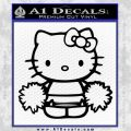 Hello Kitty Cheerleader Decal Sticker Black Vinyl 120x120