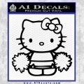 Hello Kitty Cheerleader Decal Sticker Black Vinyl 120x120