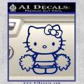 Hello Kitty Cheerleader Decal Sticker Blue Vinyl 120x120