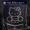 Hello Kitty Cheerleader Decal Sticker Carbon FIber Chrome Vinyl 120x120