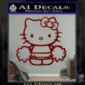 Hello Kitty Cheerleader Decal Sticker DRD Vinyl 120x120