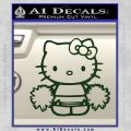 Hello Kitty Cheerleader Decal Sticker Dark Green Vinyl 120x120