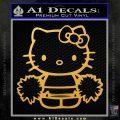 Hello Kitty Cheerleader Decal Sticker Gold Vinyl 120x120