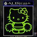 Hello Kitty Cheerleader Decal Sticker Lime Green Vinyl 120x120