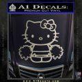 Hello Kitty Cheerleader Decal Sticker Metallic Silver Emblem 120x120