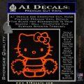 Hello Kitty Cheerleader Decal Sticker Orange Emblem 120x120