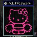 Hello Kitty Cheerleader Decal Sticker Pink Hot Vinyl 120x120