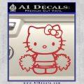 Hello Kitty Cheerleader Decal Sticker Red 120x120