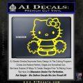 Hello Kitty Cheerleader Decal Sticker Yellow Laptop 120x120
