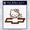 Hello Kitty Chevy Cheverolet D2 Decal Sticker BROWN Vinyl 120x120