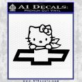 Hello Kitty Chevy Cheverolet D2 Decal Sticker Black Vinyl 120x120