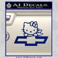 Hello Kitty Chevy Cheverolet D2 Decal Sticker Blue Vinyl 120x120
